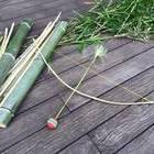 竹の弓矢作り