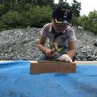 化石発掘!石割体験